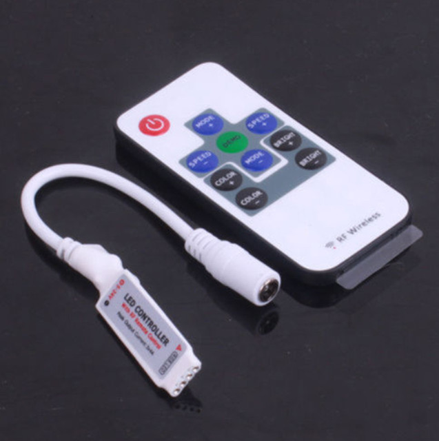 Led Strip Licht Mini 3/11/17/24/40/44 Sleutel Ir Afstandsbediening Draadloze Controller Wifi Led rgb Controler DC12V Mini Wif Voor 3528 5050 Rgb
