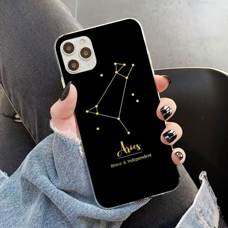 12 Constellations Zodiac Signs Phone Case for iPhone 12 Pro Max