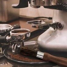 Кофемолка, щетка для чистки порошка, щетка для кофемашины, деревянная ручка, свиная щетина, кисть для эспрессо, для баристы
