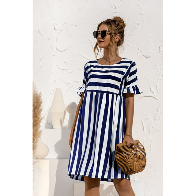striped country dress 2