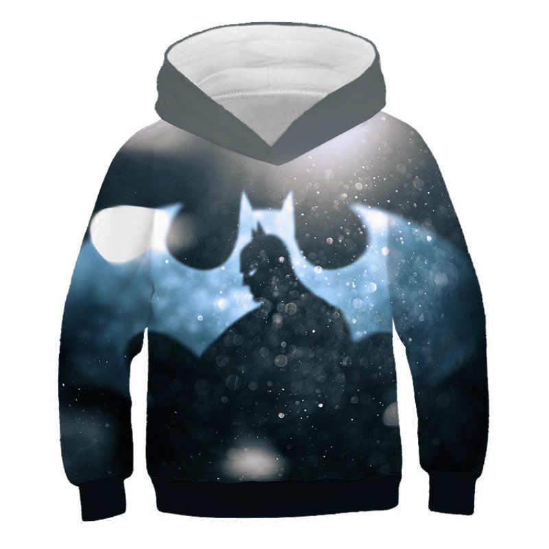 Hip Hop Super Hero Batman bluzy z kapturem Kpop Unisex Streetwear moda chłopcy bluza z kapturem męska bluza dla dzieci na co dzień tkaniny 3D drukowanie topy