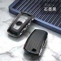 TPU coche caso clave para BMW 3 5 6 X1 M1 GT F20 F10 F30 520 525 520I 530D E34 E46 E60 E90 llavero bolsa cubierta de mando a distancia