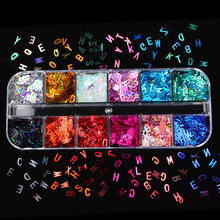 Holographic Glitter Letter Shape Resin Filling Sequins Paillette Jewelry Epoxy DIY Resin Mold Decoration Nail Art Glitter Flakes
