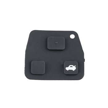 Mini Remote Key Case for Toyota Rubber pad for 2 or 3 button key fob case Yaris Corolla Avensis repair image