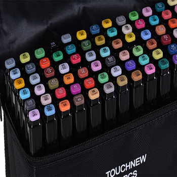 TouchFIVE Color Art Marker pen Oil Alcohol based Drawing Artist Sketch Markers Pen For Animation Manga Art Supplies