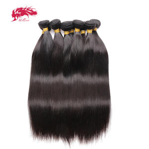 Weft-Products Hair-Bundles Ali-Queen Virgin Indian Straight 100%Human-Hair 10pcs/Lot