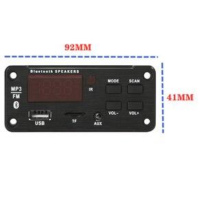 Image 4 - 5V 12V MP3 modülü WMA MP3 dekoder kurulu büyük renkli ekran 12V kablosuz Bluetooth 5.0 ses modülü USB TF radyo araba için kayıt
