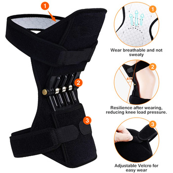 Dropshipping 1 Pair Knee Pad Safety Work Flexible Bands Knee Protection Booster Power Lift Support