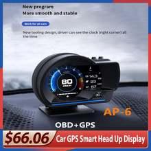 Автомобильный hud obd2 gps smart head up дисплей контроль скорости