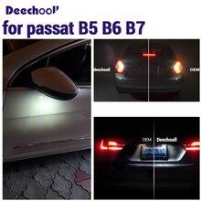 Canbus светодиодный внешний задний резервный светильник+ под зеркалом+ номерной знак лампы Комплект для Volkswagen для VW passat b5 b6 b7 97-15