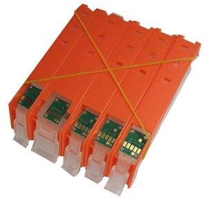 Image 2 - 리필 PGI 580 cli 581 빈 리필 잉크 카트리지 영구 칩 캐논 pixma ts705 ts6150 ts6250 tr7550 tr8550 tr9550c