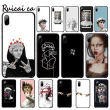 Mona Lisa Art David Soft Silicone Phone Cover Luxury For Xiaomi Mi A1 A2 Lite Redmi Note 2 3 4 4x 5 5a 6 Telephone Accessories mona lisa phone case art paint pattern cover luxury case for xiaomi mi a1 a2 lite redmi note 2 3 4 4x 5 5a 6 accessories