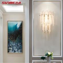 Минимализм светодиодные настенные светильники гостиная декор стекло свет для прикроватного освещения лестницы Скандинавская спальня аппликация murale