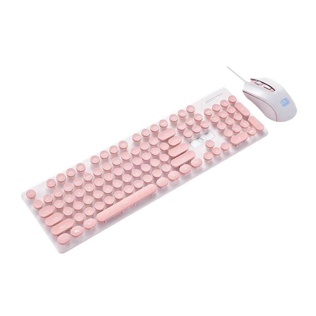 Wireless Mouse Keyboard Set Punk Mechanical Feel Keyboard And Mouse Set Office Business Keyboard Wireless Mouse
