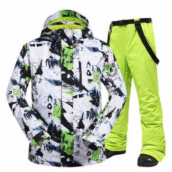 Ski Suit Men Winter New Outdoor Windproof Waterproof Thermal Snow Jacket And Pants Clothes Skiing And Snowboarding Suits Brands - DISCOUNT ITEM  39% OFF All Category