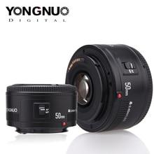 Lente da câmera de yongnuo yn ef 50mm f/1.8 af 1:1.8 foco automático padrão da abertura da lente principal para câmeras dslr de canon eos