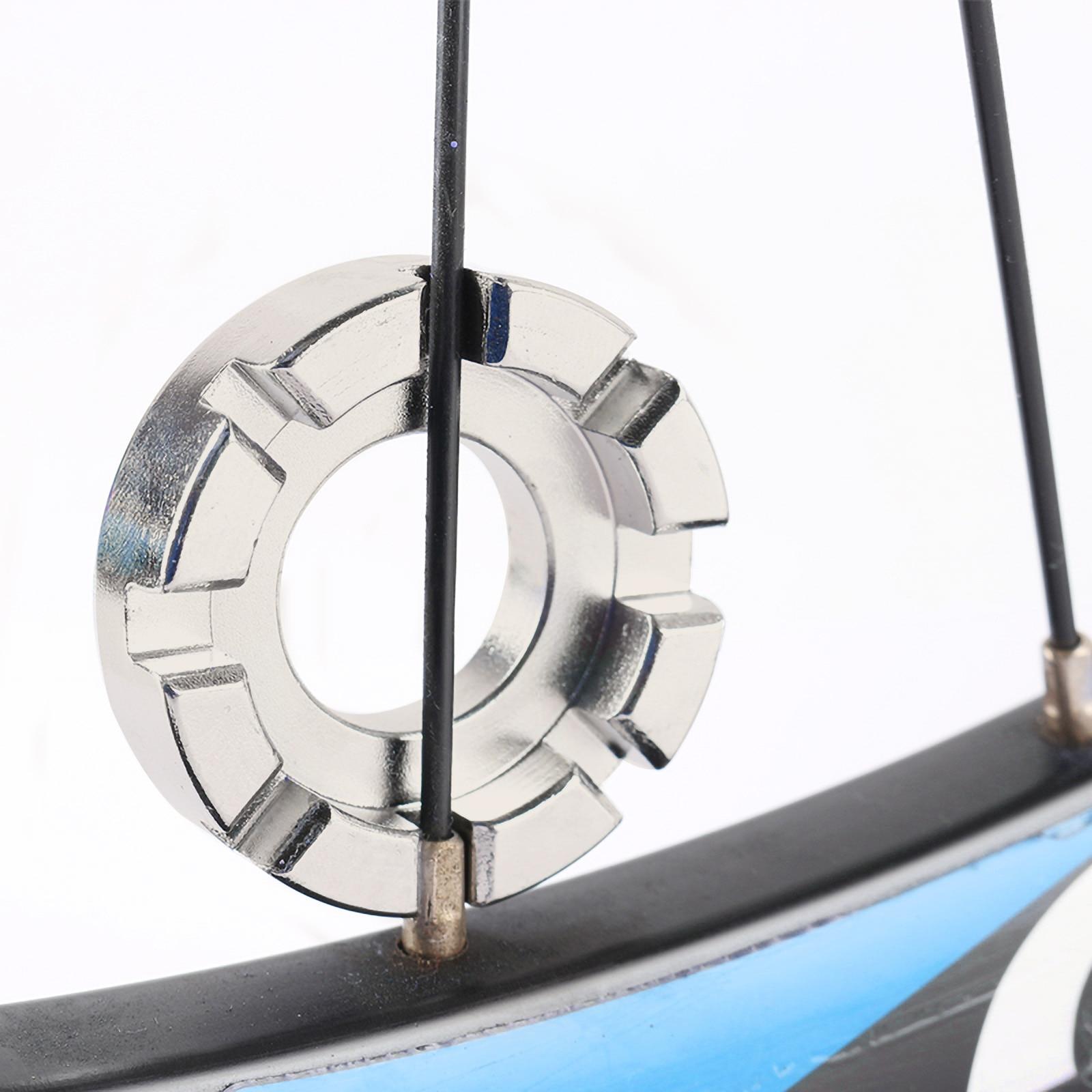 1PCS Bicycle Spoke Nipple Wrench Bike 8 Way Spoke Nipple Key Wheel Rim Wrench Stainless Steel Repair Tool Key Bicycle Accessory