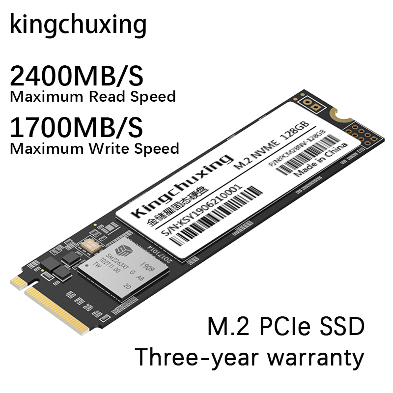<font><b>2280</b></font> Internal <font><b>SSD</b></font> m.2 <font><b>M2</b></font> <font><b>NVMe</b></font> PCIe Solid State Drive жесткий диск 128GB 256GB 512GB 1TB HDD for Computer Laptop by Kingchuxing image