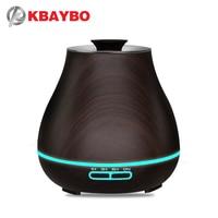 Kbaybo Aroma Essentiële Olie Diffuser Ultrasone Luchtbevochtiger Met Houtnerf Elektrische Led Verlichting Aroma Diffuser Voor Thuis