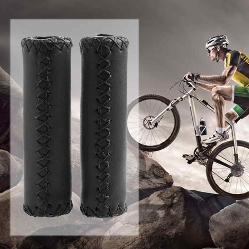 Bicycle Handlebar Vintage Retro Artificial Leather Cycling Riding Mtb Bike Grip