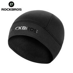 ROCKBROS Winter Cycling Cap Windproof Warm Thermal Fleece Bike Cap Running Skiing Motocycle Hat Woman MTB Bike Cycling Headwear