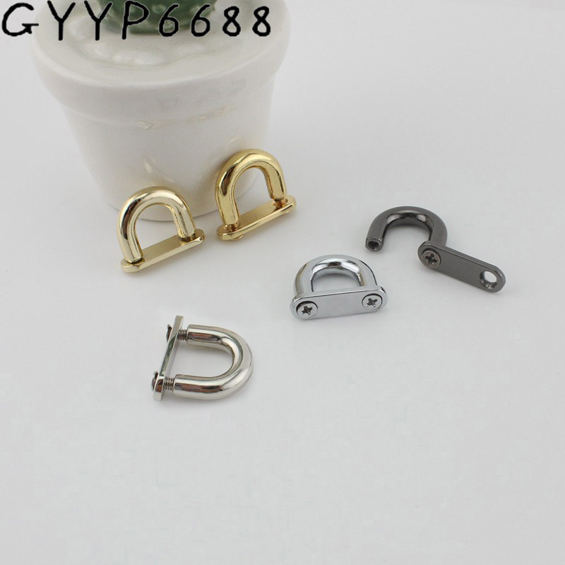 4pcs 10mm OLD SILVER High Quality Arch Bridge Detachable Openable Removable Handbag Leather Shoulder