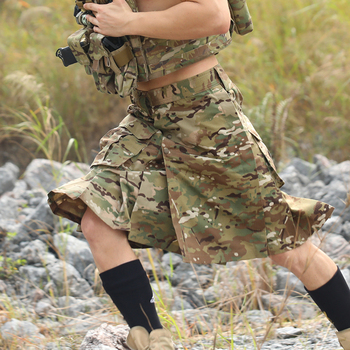 New Tactical Scotland Skirt Multicam Camouflage Military Skirt for Man Quick-off Man Outdoor Climbing Hiking Ripstop Skirt