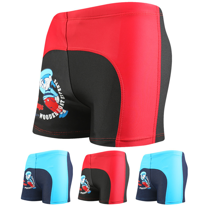 Cartoon Mixed Colors Children Beach Shorts Comfortable Breathable Quick-Dry Boxer Swimming Trunks BOY'S Hot Springs Swimming Tru