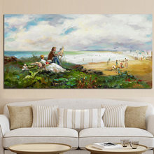 Claude Monet Impression Pastoral Landscape Oil Canvas Painting Posters and Prints Wall Art for Living Room Home Decor Cuadros