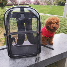 Portable Pet Dog Carrier Backpack Mesh Outdoor Travel Transparent  Breathable Parrot Cat Bird Carrying Cages