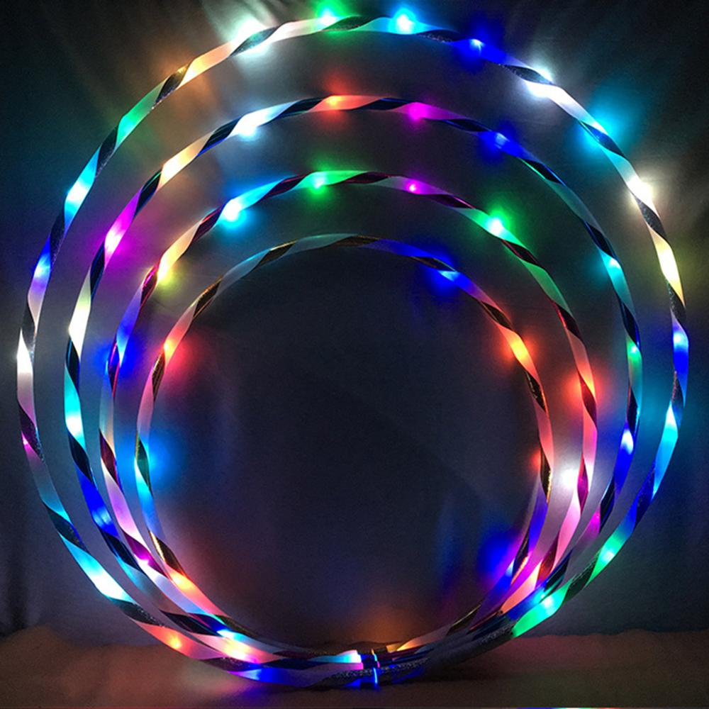 Dadaism Fitness Circle Performing Arts LED Light Abdominal Fat Loss Foldable Sport Hoop Gym Fitness Equipments