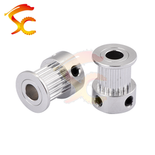 80 Pcs 3D Printer Parts Printer Pulley GT2 20 Gigi Bor 5 Mm 2GT 20 Gigi Timing Pulley Cocok untuk GT2 Sabuk Lebar 10 Mm(China)
