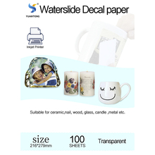 Water Slide Decal Paper Transparent Printing Paper for Inkjet Printer Transferable Waterslide