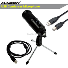 K1 Metal USB Condenser Recording Microphone for Laptop MAC or Windows Studio Recording Vocals Voice Over YouTube Live broadcast cheap MADON Tabletop Condenser Microphone Computer Microphone Multi-Microphone Kits Cardioid Wired
