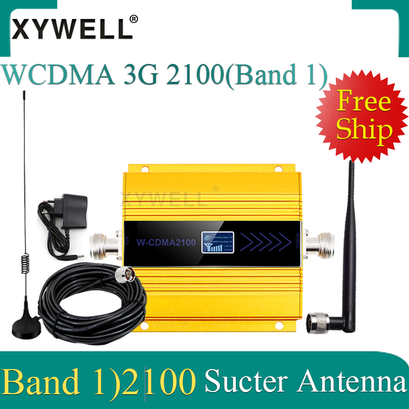 Hot! 3G WCDMA 2100MHz Mobile Phone Signal Booster 3G 2100MHz UMTS Signal Repeater Cell Phone WCDMA Amplifier With Sucker Antenna