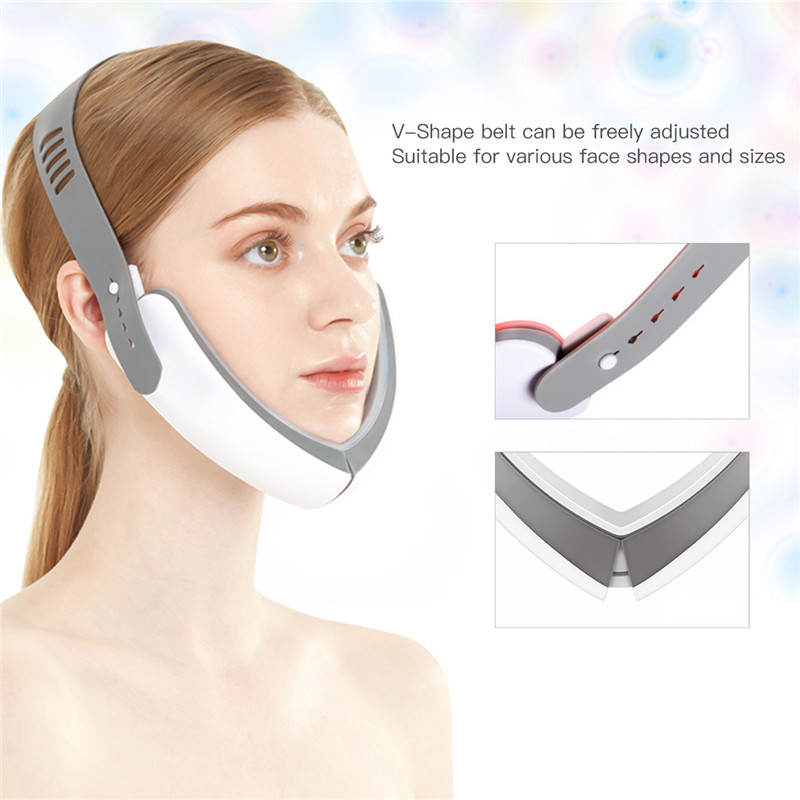 LED Photon Light Therapy V Face Massager Facial Lifting Slimming Double Chin Reducer Anti Aging Wrinkles Skin Care Beauty 43|Home Use Beauty Devices| - AliExpress