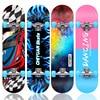 Teenagers Skateboard Wood Complete Beginner Skate Skateboard Street Brushing Thrasher Hot Wheels Kaykay Outdoor Sports