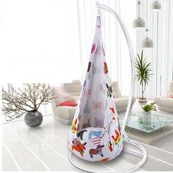 Цветной/мультяшный зоопарк/пони дизайн детский гамак садовая мебель для помещений и улицы детский надувной портативный гамак