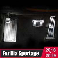 Pedale poggiapiedi pedale freno carburante acceleratore auto in alluminio per Kia Sportage 4 QL 2016 2017 2018 2019 2020 accessori