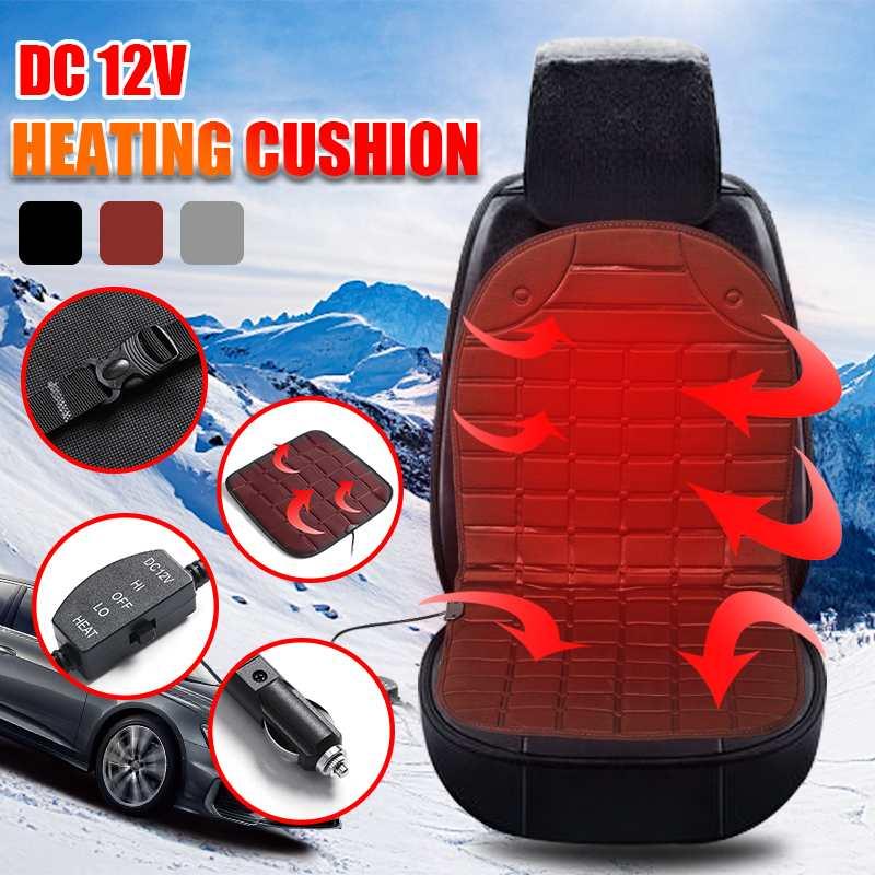 12V ユニバーサルカー温水シートクッション加熱されたシートカバー 30 W-45 ワット 30-65 度調整可能な自動加熱パッド冬クッション