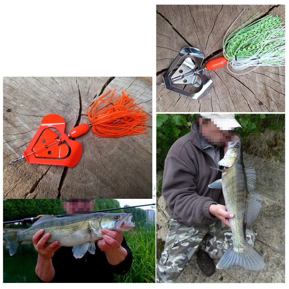 Chatterbait Buzzbait Bass Fishing Lure Fishing Tackle Baits Topwater Blade-4