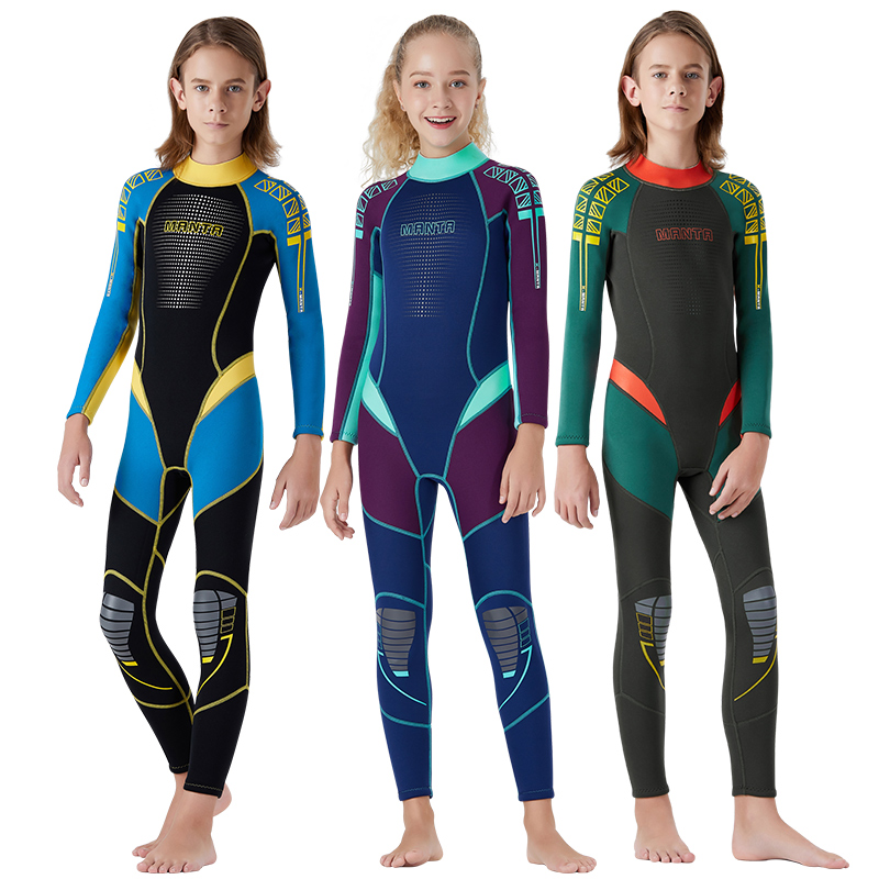 2.5MM Long Sleeves Kids Wetsuits Diving Suits For Boys Girls Children Rash Guards One Pieces Surfing Swim Snorkel Children Set