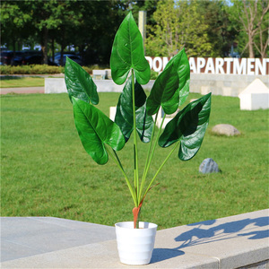 Image 2 - 80cm 7fork Large Artificial Tropical Tree Fake Plastic Plant Branch Big Green Palm Tree Monstera Foliage for Autumn Home Decor