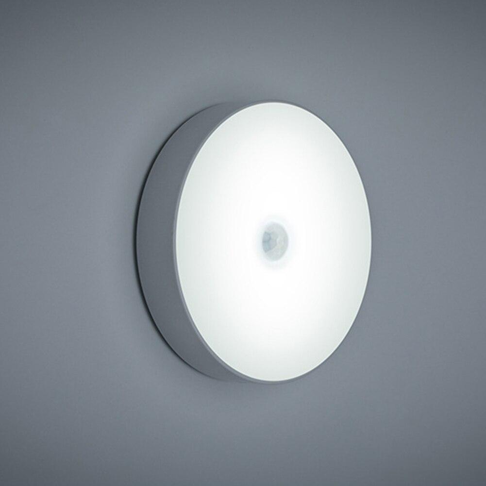 Night Light USB Rechargeable PIR Motion Sensor Light Control LED Night Lamp Magnet Wall Light Warm White For Cabinet Bedside