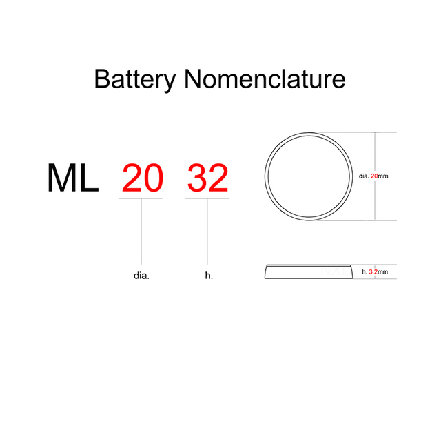 Rechargeable Battery ML2032 3V 2PCS Lithium Button Built-in Coin Cell Batteries 2032 Replace CR2032 CMOS BIOS RTC Backup Reserve 2