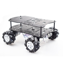 Double layer 4WD 80mm Mecanum Wheel RC Robot Car Chassis with DC 12V Encoder Motor for Arduino Raspberry Pi DIY Project STEM Toy цена 2017