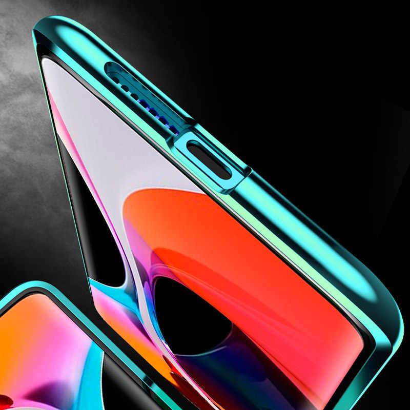 360 Adsorção magnética Metal Case Para Xiaomi Redmi 10X K30 K20 Nota 9 8 7 9S Pro 8T para Xiaomi 10 CC9 Nota 10 9T Pro 9 A3 Capa