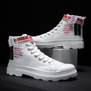 Image 2 - BIGFIRSE 남성 캐주얼 신발 높은 탑 편안한 남성 패션 신발 비 슬립 남성 스니커즈 야외 레저 신발 Zapatillas Hombre