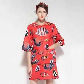 ARiby haut de gamme femmes deux pièces costume 2019 nouveau deux costumes de mode imprimé demi manches haut à col rond et jupe courte 2 pièces tenues