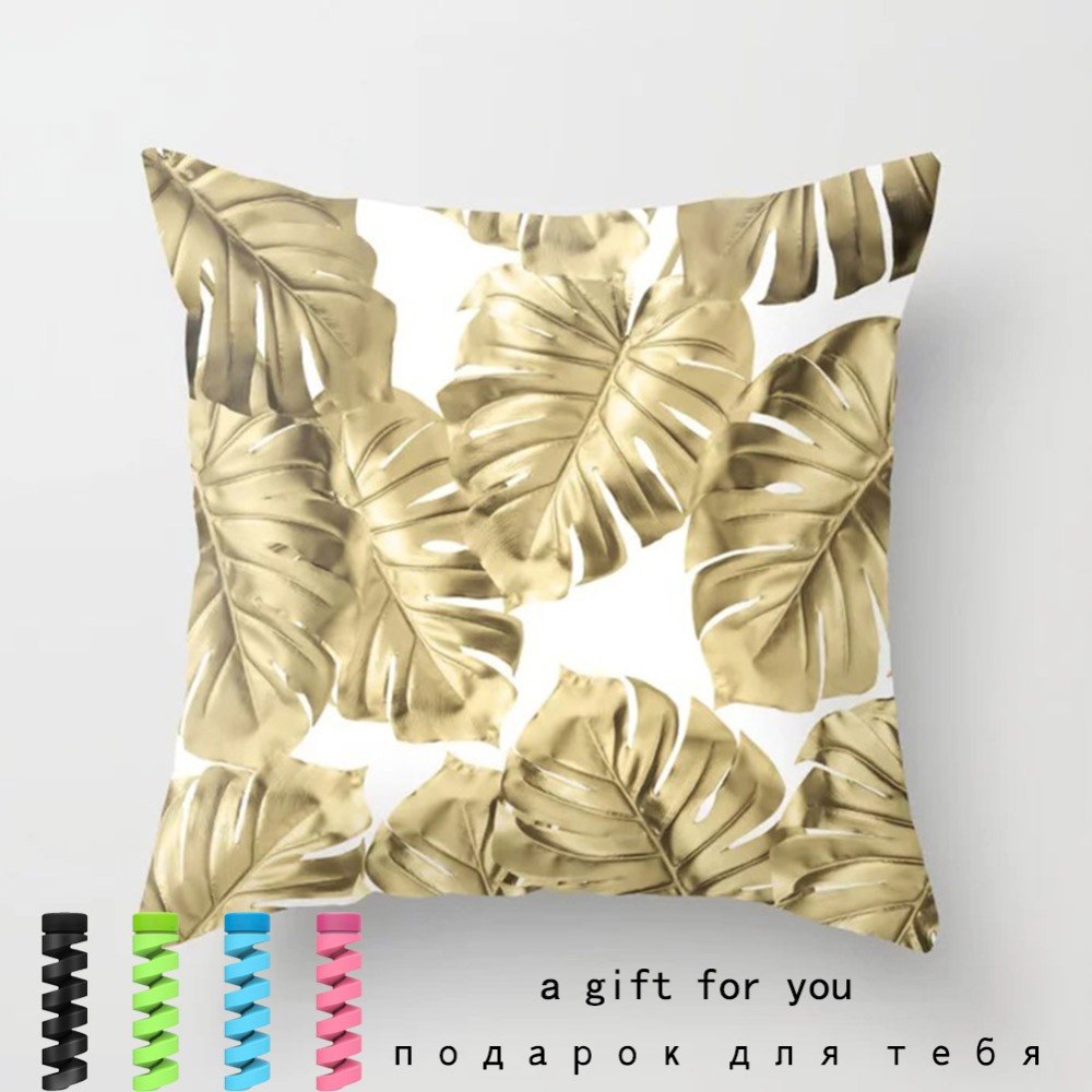 Tropical Leaf Cactus Monstera Cushion Cover Polyester Throw Pillows Sofa Home Decor Decoration Decorative Pillowcase 40506-1 (19)
